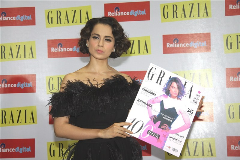 Kangana Ranaut,Kangana Ranaut dazzles on the cover of Grazia's 100th Issue,Kangana Ranaut on Grazia's 100th Issue,Grazia's 100th Issue,actress  Kangana Ranaut,Kangana Ranaut on Magazine,Kangana Ranaut pics,Kangana Ranaut images,Kangana Rana