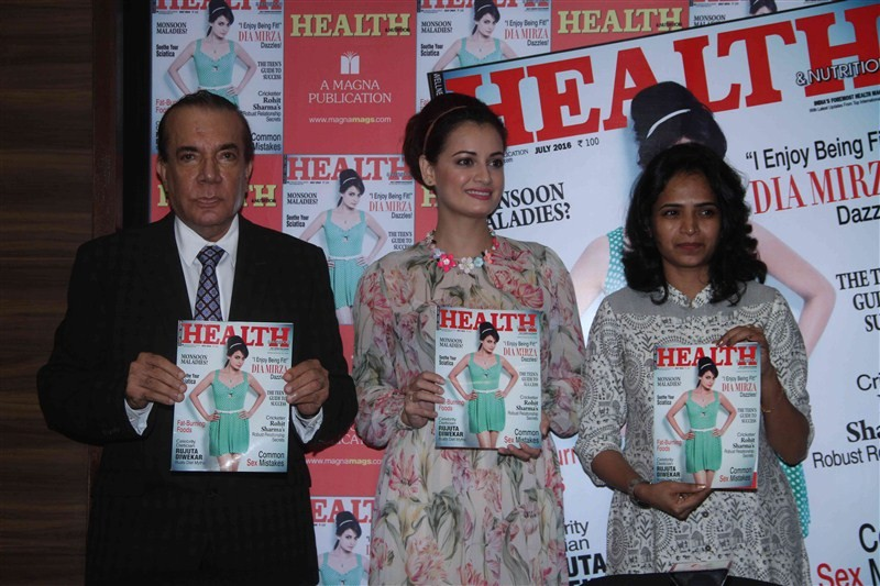 Dia Mirza,Dia Mirza unveils the cover of Health and Nutrition Magazine,Health and Nutrition Magazine,Dia Mirza latest pics,Dia Mirza latest images,Dia Mirza latest photos,Dia Mirza latest stills,Dia Mirza latest pictures