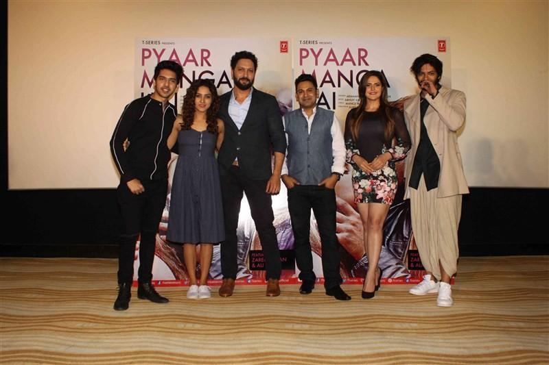 Pyaar Manga Hai,Pyaar Manga Hai song launch,Armaan Malik,Neeti Mohan,Abhijit Vaghani,Manoj Muntashir,Zareen Khan,Ali Fazal,Pyaar Manga Hai song