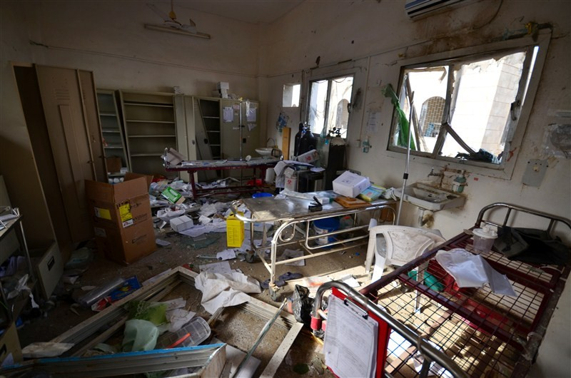 MSF hospital,MSF hospital in Yemen,Yemen hit by air strike,Sans Frontieres,Saudi-led coalition air strike,Medecins Sans Frontieres,Yemen