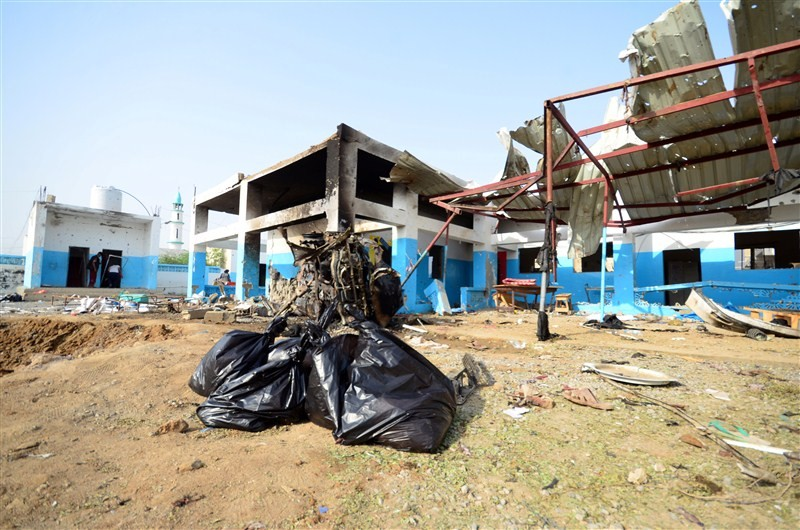 MSF hospital,MSF hospital in Yemen,Yemen hit by air strike,Sans Frontieres,Saudi-led coalition air strike,Medecins Sans Frontieres,Yemen