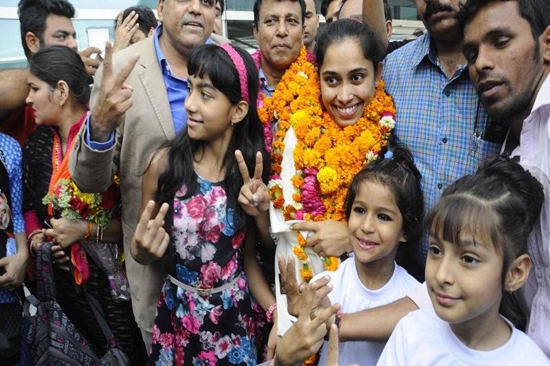 Dipa Karmakar,Gymnast Dipa Karmakar,Dipa Karmakar reaches Tripura,Dipa Karmakar receives Grand welcome,Dipa Karmakar pics,Dipa Karmakar images,Dipa Karmakar photos,Dipa Karmakar stills,Dipa Karmakar pictures