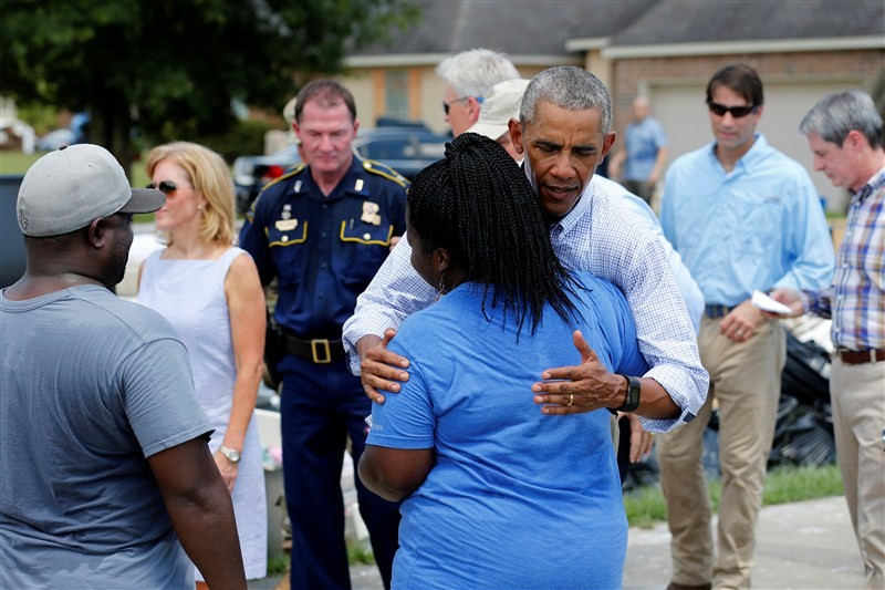 President Barack Obama,Barack Obama,Obama visits Louisiana floods victims,Barack Obama visits floods victims,Louisiana floods victims,Louisiana