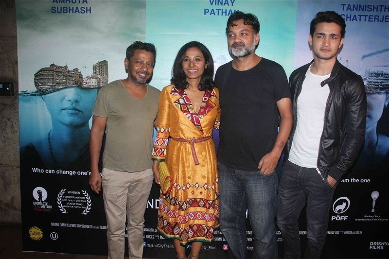 Island City Special screening,Island City,Kalki Koechlin,Dino Morea,Vinay Pathak,Tannishtha Chatterjee,Neha Dhupia,Rajat Kapoor,Salim Khan,Island City Special screening pics,Island City Special screening images,Island City Special screening photos,Island