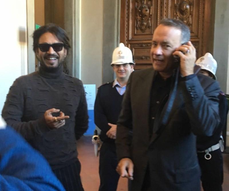 Irrfan Khan,Irrfan Khan joins Tom Hanks,Tom Hanks,Inferno for world premiere,Dario Nardella,Irrfan Khan with Tom Hanks,Irrfan Khan pics,Irrfan Khan images,Irrfan Khan photos,Irrfan Khan pictures,Irrfan Khan stills