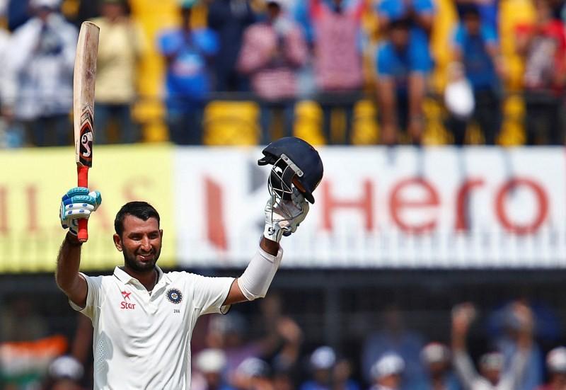India vs New Zealand,Cheteshwar Pujara hits 8th Test ton,Cheteshwar Pujara,Cheteshwar Pujara 8th century,Cheteshwar Pujara century,India vs New Zealand,3rd Test,India vs New Zealand Test series,India vs New Zealand 3rd Test,India vs New Zealand pics,Indi