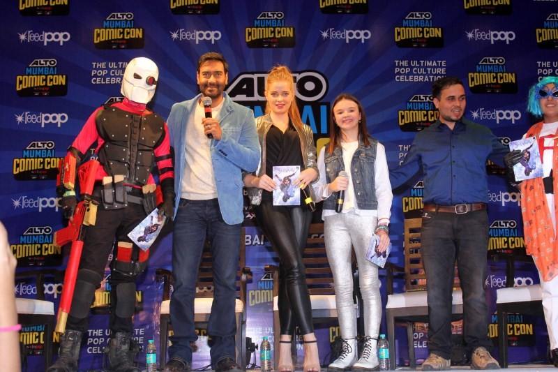 Ajay Devgn,Shivaay comic,Shivaay,Shivaay movie promotion,Shivaay promotion,Actor Ajay Devgn,Bollywood Actor Ajay Devgn