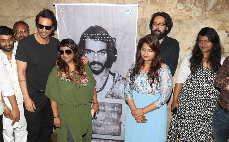 Arjun Rampal,Arjun Rampal at special screening of Daddy teaser,special screening of Daddy teaser,Daddy teaser,Arun Gawli,Geeta Gawli,Yogita Gawli,Daddy teaser launch,Daddy teaser launch pics,Daddy teaser launch images,Daddy teaser launch photos