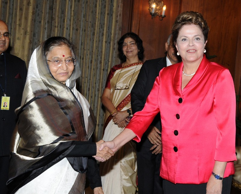 Dilma Rousseff Calls on Pratibha Patil