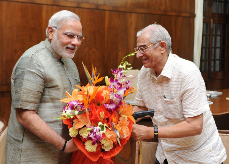 Later on Tuesday, Gujarat governor OP Kohli visited Modi.