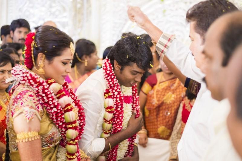 Shankar Blessing Atlee-Krishna Priya at Their Wedding