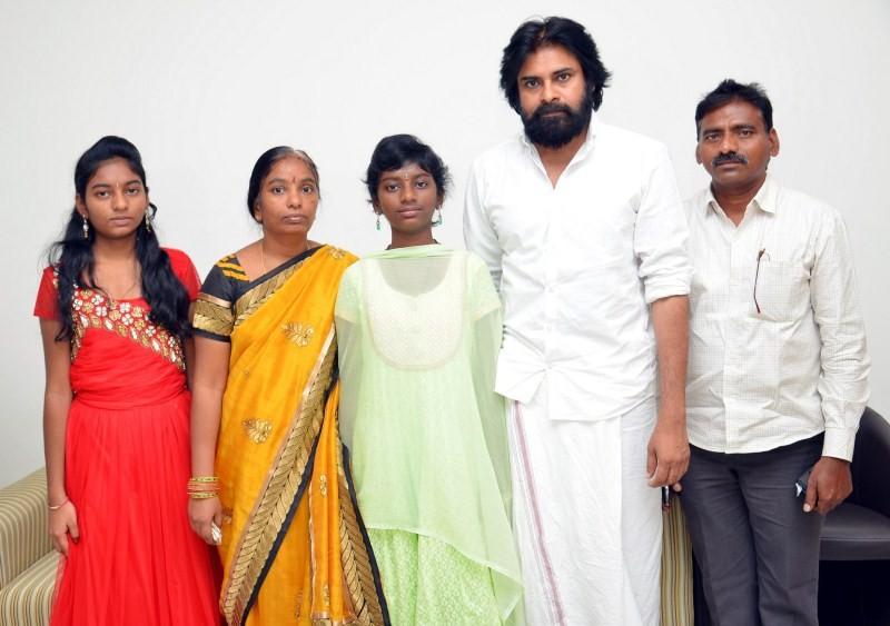 Pawan Kalyan with Srija family