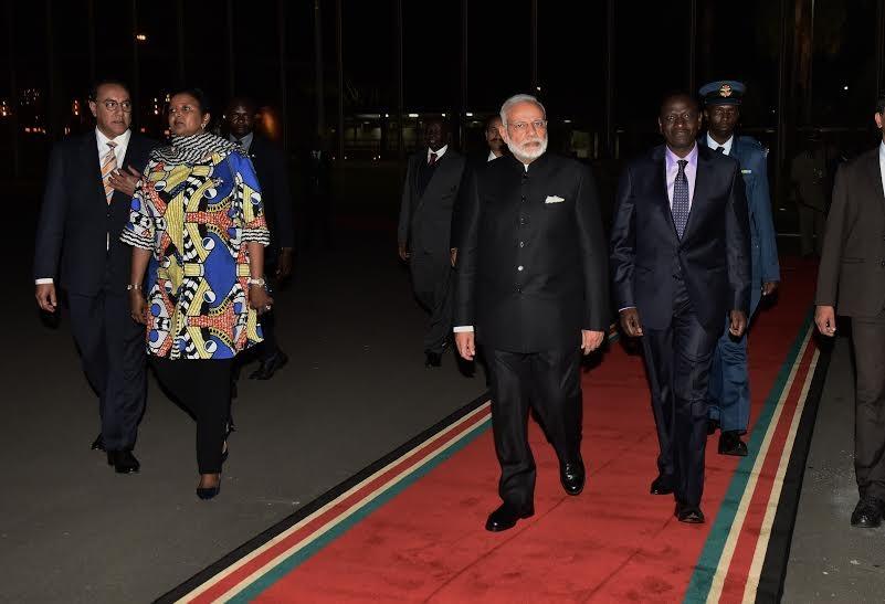 Narendra Modi,PM Narendra Modi,Modi four-nation African tour,Modi on African tour,Modi in Kenya,modi reaches India,Modi in India,Narendra Modi pics,Narendra Modi images,Narendra Modi photos,Narendra Modi stills,Narendra Modi pictures