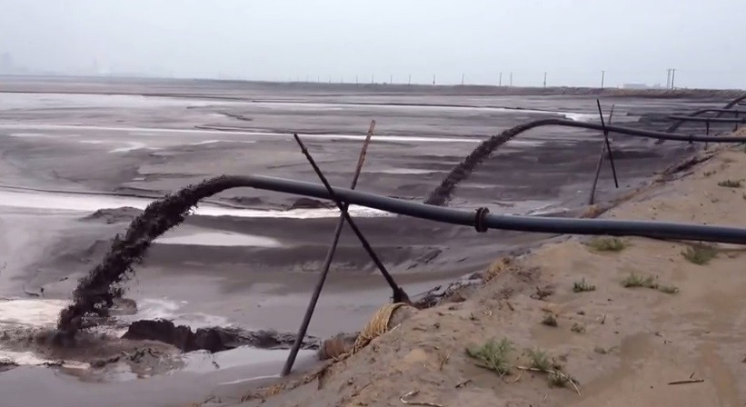 Mongolia Lake filled with toxic chemicals.