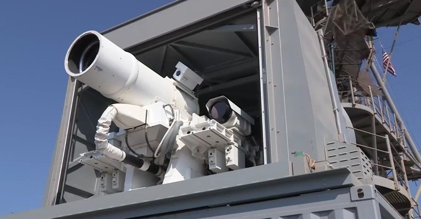 The new laser weapons system, which has been dubbed as 'LaWS' – has performed flawlessly in tests aboard the transport ship USS Ponce.