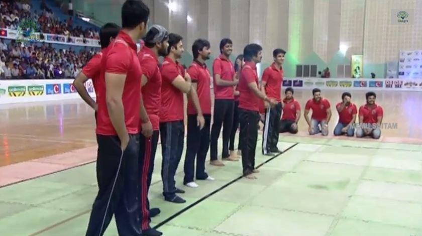 Manoj's Kabaddi team Red Panthers at Memu Saitam Kabaddi match