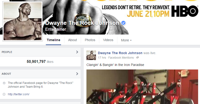 Several Celebrities like Dwayne The Rock Johnson has Already Started Using Live feature for Interacting more with the Facebook Fans