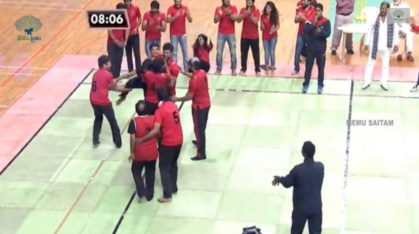 Actor Nani gave 1 point Red Panthers by getting caught.