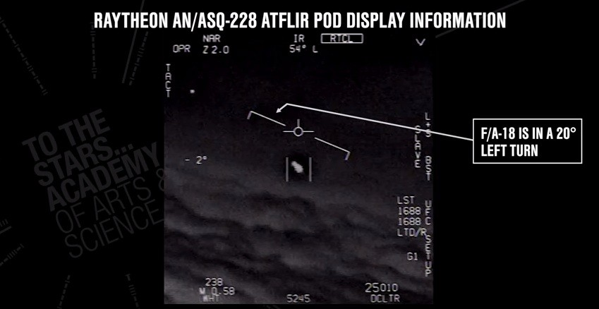 Footage Gimbal, the first of three US military videos of unidentified aerial phenomenon (UAP)
