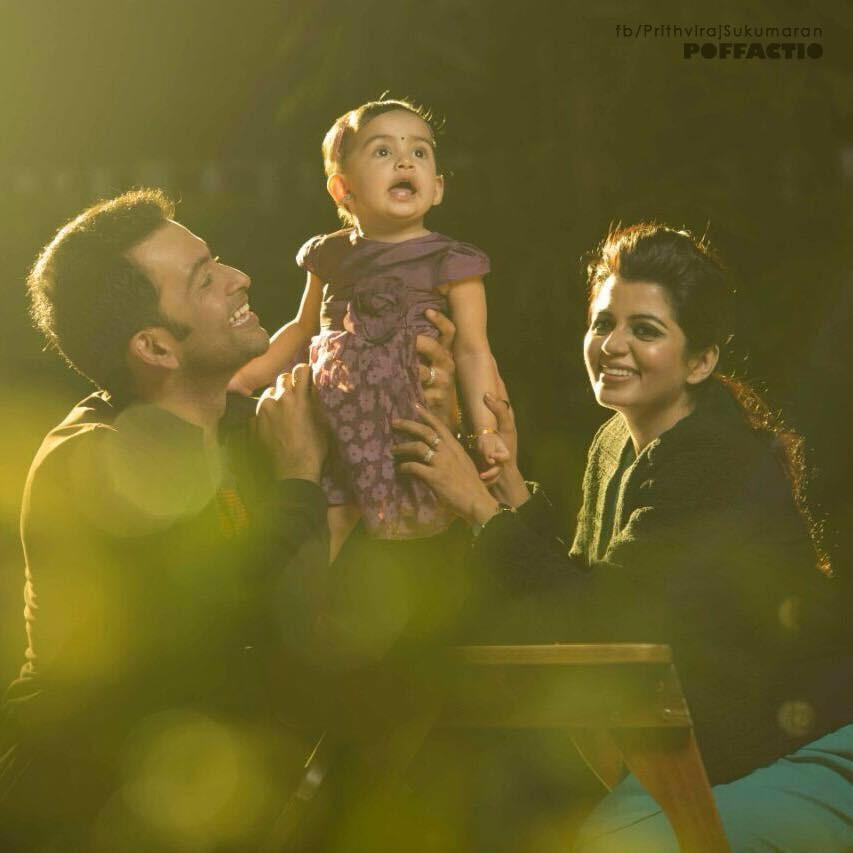 Prithviraj daughter photo,prithviraj daughter name,prithviraj's kid photo,Supriya menon,alankrita menon