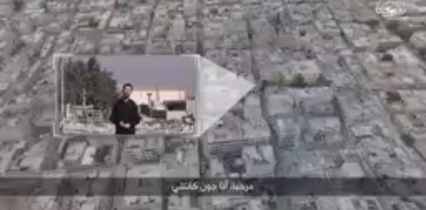 An aerial view of the town of Kobani claimed to have been shot through an aerial drone belonging to ISIS. John Cantile reporting live from Kobani for Islamic State.