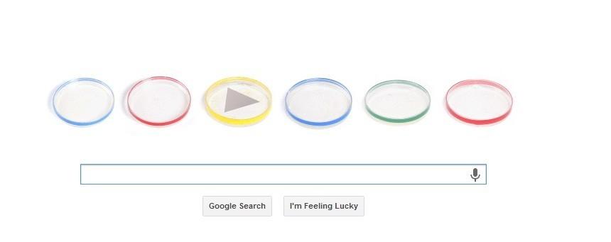 Animated Google Doodle Celebrating Julius Richard Petri's 160 Birthday (Google)