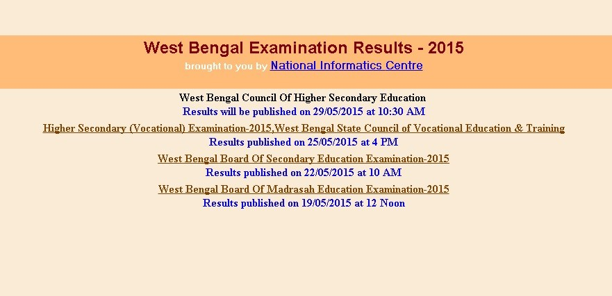 Check West Bengal HS Results 2015