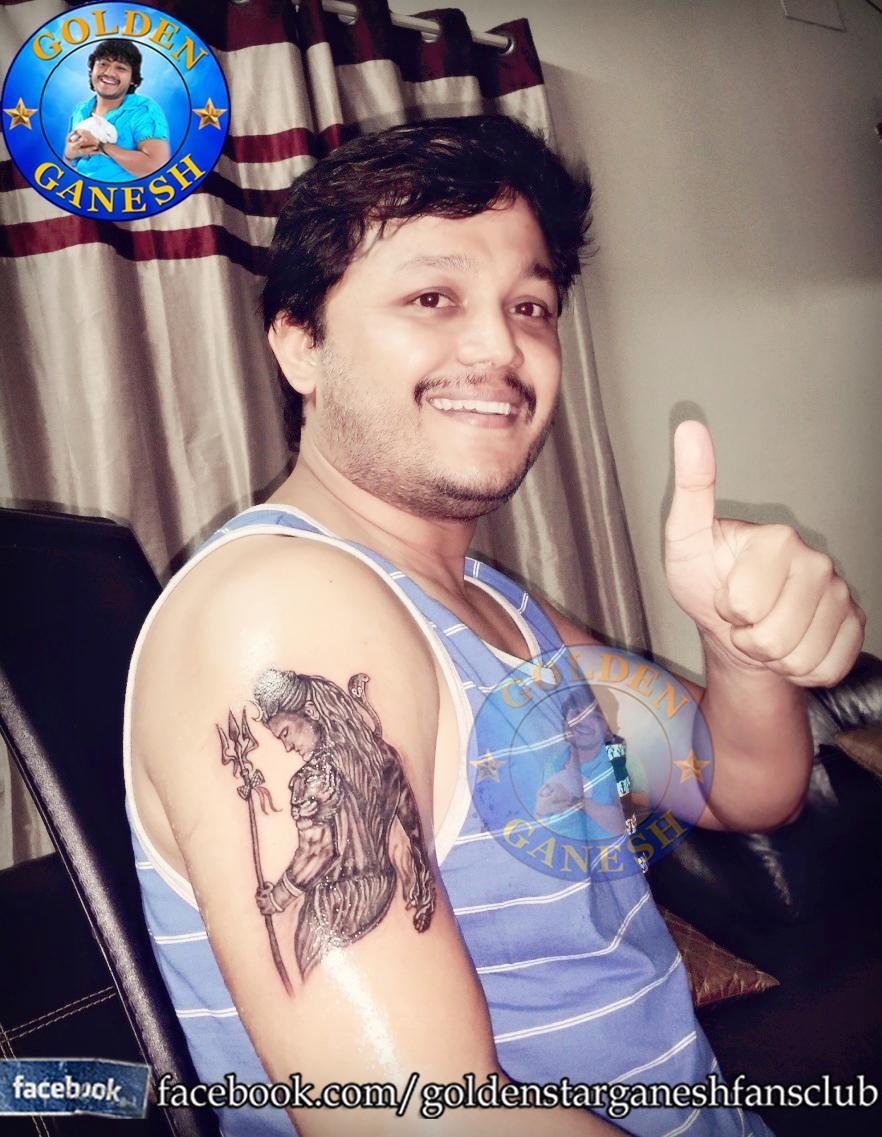 Golden Star Ganesh gets Shiva Tattoo,Ganesh gets Shiva Tattoo,Ganesh Shiva Tattoo,Shiva Tattoo,lord Shiva Tattoo,Tattoo,Golden Star Ganesh,kannada actor Ganesh,Ganesh pics,Ganesh images,Ganesh photos,Ganesh stills,Ganesh latest pics,Ganesh latest images,G