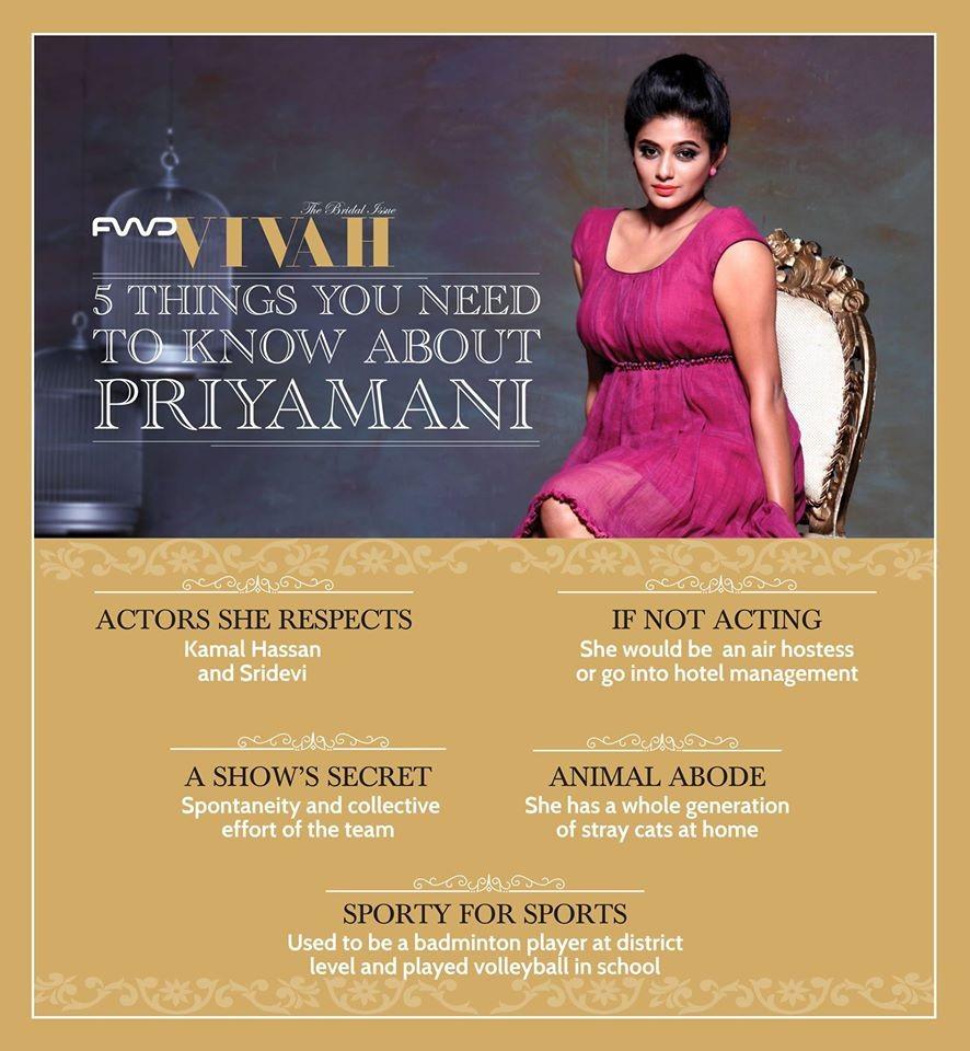 Priyamani wedding date,priyamani wedding plans,priyamani fwd vivah,fwd vivah,fwd vivah covergirl