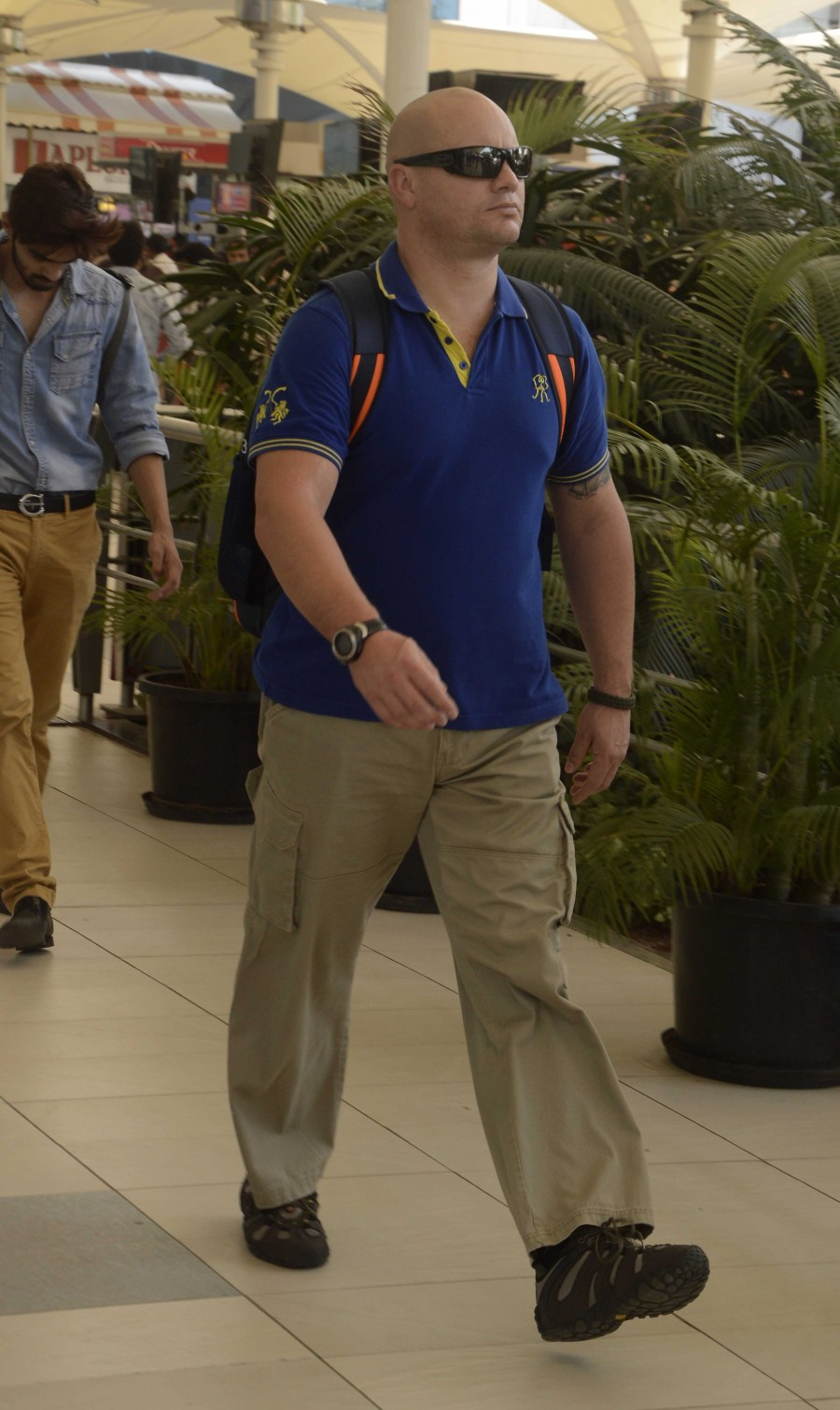 Celebs spotted,rajasthan royals team spotted,IPL team spotted,mumbai domestic airport