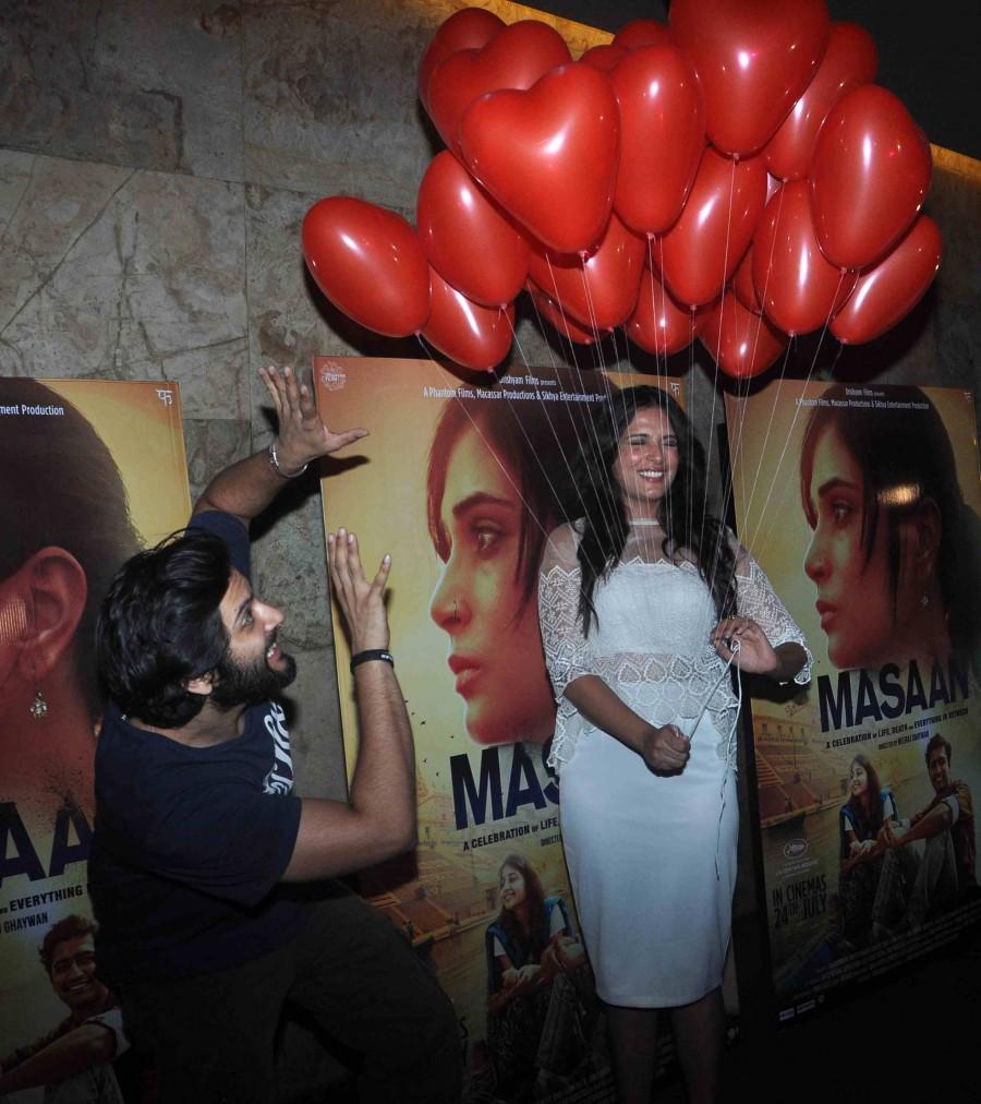 Masaan,Masaan trailer,Masaan special screening,richa chadda,photos