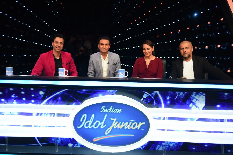 Indian idol junior,virendra sehwag,cricketer,preity zinta,Indian Idol Junior Season 2,sonakshi sinha,photos