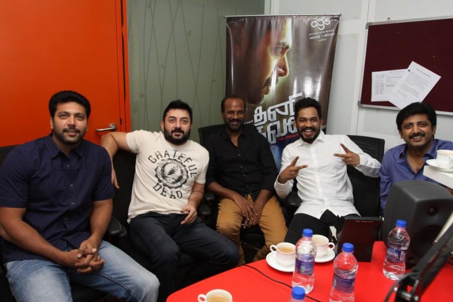 Thani Oruvan Audio Launch,Tamil Movie Thani Oruvan Audio Launch,Thani Oruvan Audio Pics,Thani Oruvan Audio Photos,Thani Oruvan Audio Pictures,Thani Oruvan Audio Launch Suryan FM,Thani Oruvan,Tamil Movie Thani Oruvan,Jayam Ravi,Hiphop Tamizha,Aravind Swamy