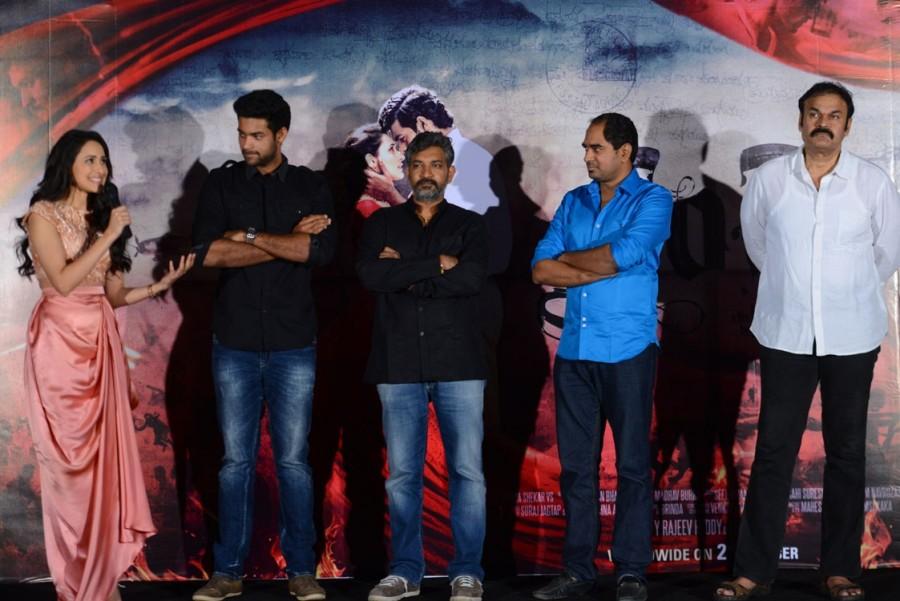 SS Rajamouli,Varun Tej,Pragya Jaiswal,Kanche Movie Trailer Launch,Kanche Trailer Launch,Kanche Trailer,Kanche,SS Rajamouli at Kanche Movie Trailer Launch,Varun Tej at Kanche Movie Trailer Launch,Pragya Jaiswal at Kanche Movie Trailer Launch