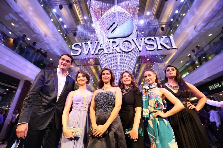 Tamannah Bhatia,Nimrat Kaur,Huma Qureshi,Swarovski India partners launch an exquisite art installation,Swarovski India,Swarovski jewellery