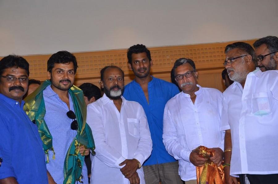 Pandavar Ani Thanks Meet,Nadigar Sangam Elections,Nadigar Sangam Elections 2015,Nassar,Vishal,Karthi,Mohan,KS Ravikumar