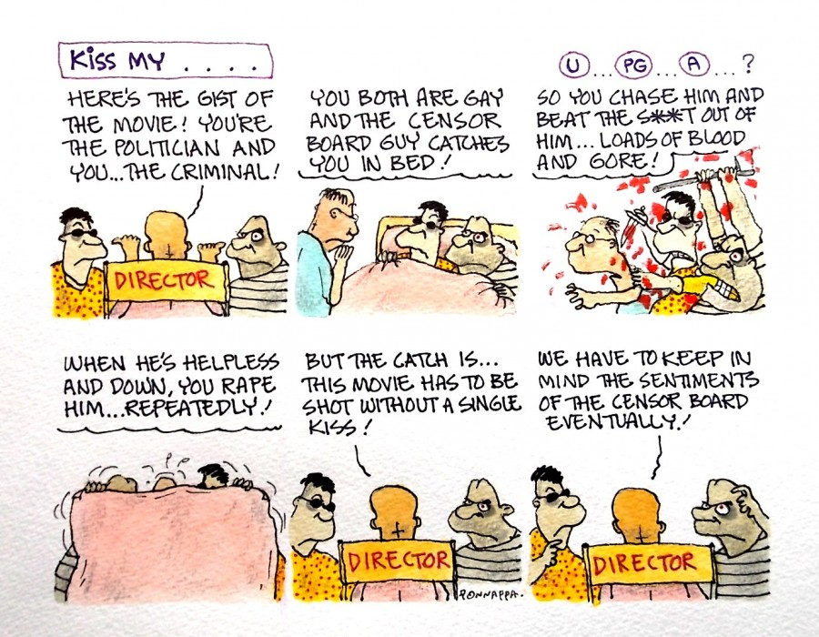 IBTimes cartoon,Ponappa cartoon,Censor Board