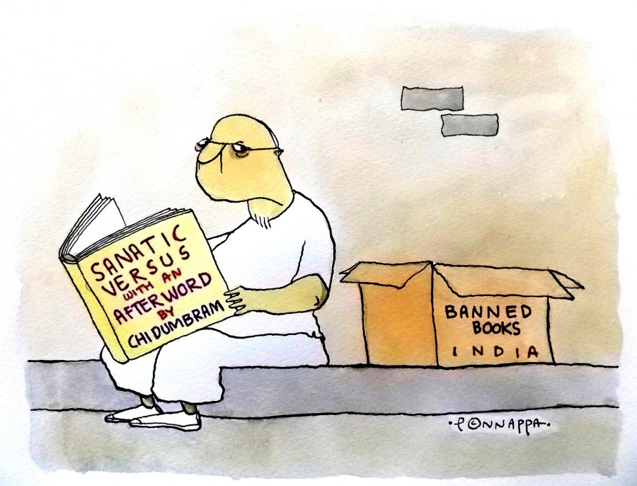 IBTimes Cartoon,Ponappa Cartoon,Banned books,Satanic versus
