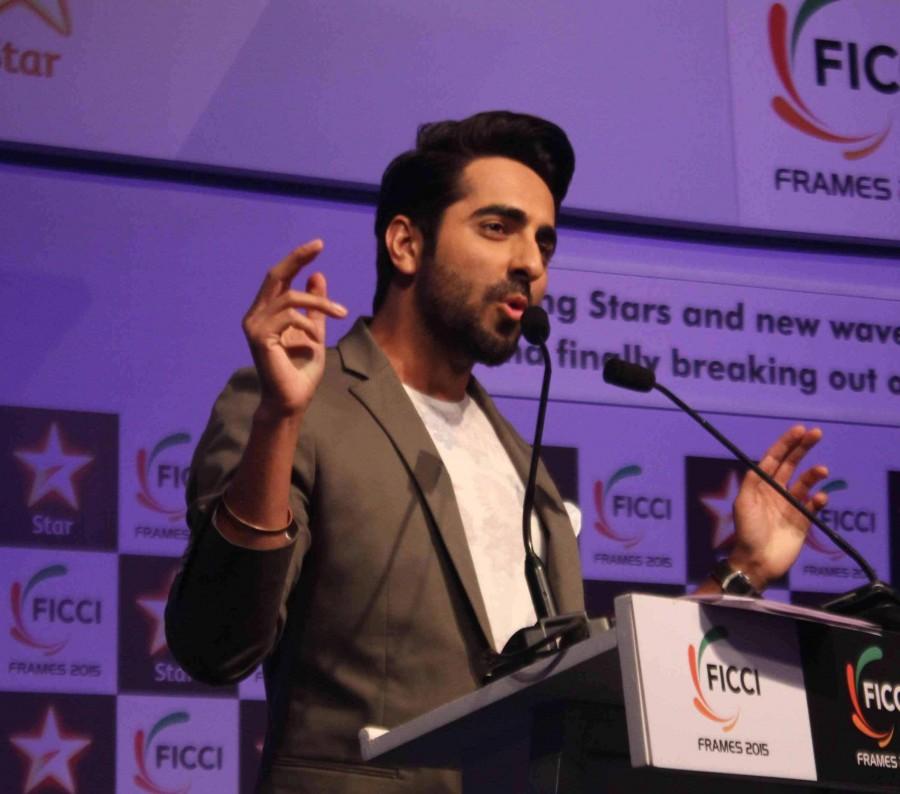 Arjun Kapoor,Ayushmann Khurrana,Rajyavardhan Singh Rathore,FICCI 2015,Abhay Deol,Bhumi Pednekar,photos