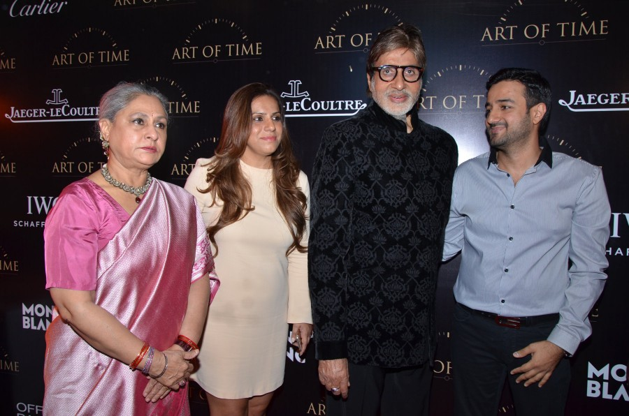 Art of Time store,Art of Time store launch,Amitabh Bachchan,Jaya Bachchan,Mahesh Shahani,Siddharth Anand,Mona Vahanvati,Director Sujoy Ghosh,Vishal Dadlani,Ramesh Taurani,Minisha Lamba,Dino Morea,Deanne Panday,Harman Baweja
