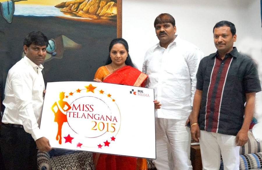 Miss Telangana 2015,Miss Telangana 2015 Official logo launch by Smt.K.Kavitha,Miss Telangana 2015 Official logo launch photos,Miss Telangana 2015 Official logo