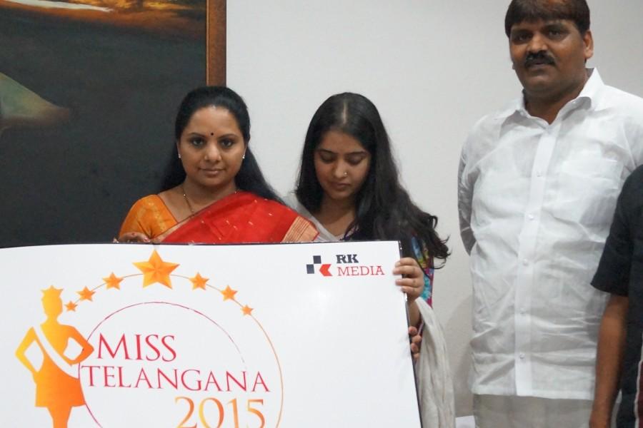Miss Telangana 2015,Miss Telangana 2015 Official logo launch by Smt.K.Kavitha,Miss Telangana 2015 Official logo launch photos,Miss Telangana 2015 Official logo
