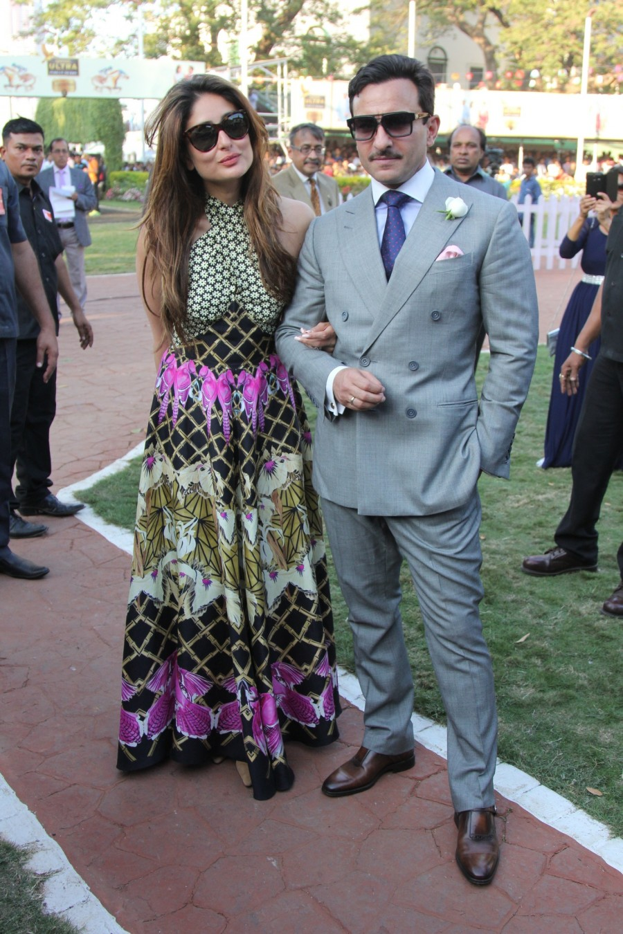 Kareena Kapoor Khan,Saif Ali Khan,Kareena Kapoor Khan and Saif Ali Khan,IBJA Cup,India Bullion & Jewellers Association,MC Dowell's Derby Day,Celebs at IBJA Cup