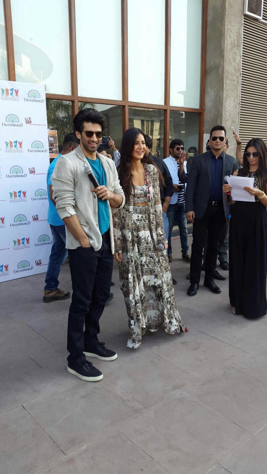 Aditya Roy Kapur,Katrina Kaif,Aditya Roy Kapur and Katrina Kaif,Fitoor,bollywood movie Fitoor,Fitoor promotion,Fitoor movie promotion
