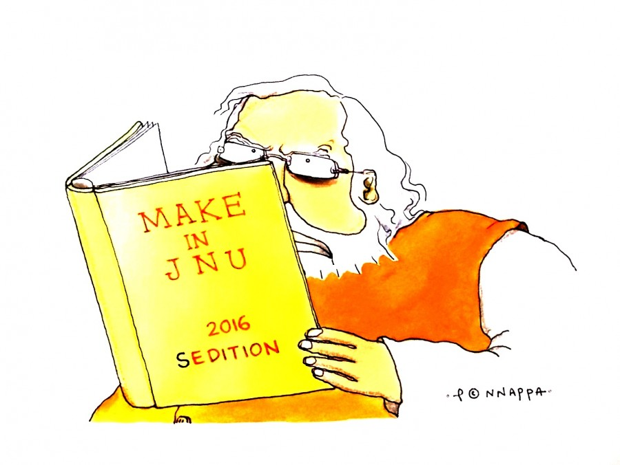 IBTimes Cartoon,Ponappa cartoon,JNU cartoon,Make in India cartoon