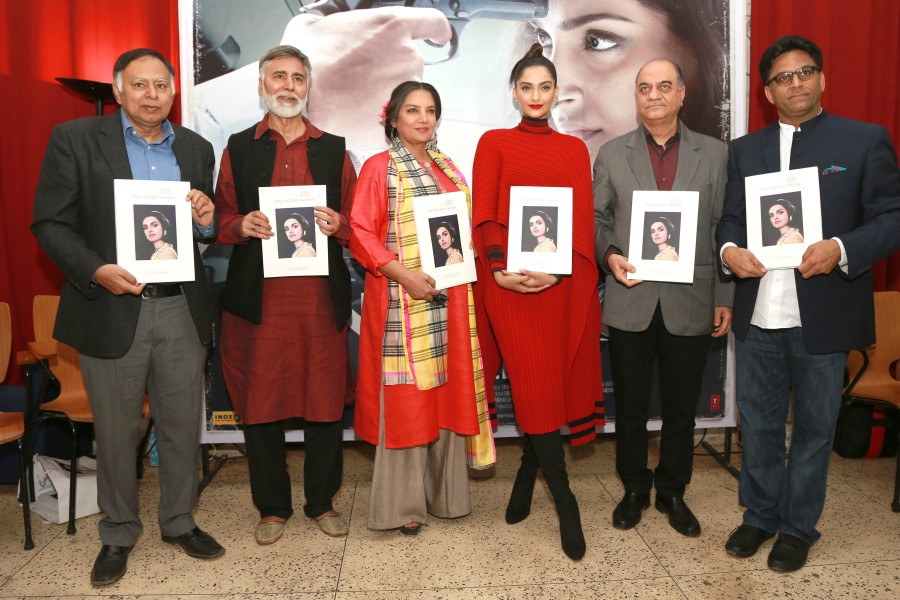 'The Neerja I Knew' – Book Launch,The Neerja I Knew – Book Launch,The Neerja I Knew Book Launch,The Neerja I Knew,Sonam Kapoor,Shabana Azmi,Ram Madhvani,Yogendra Tiku,Aneesh Bhanot,Neerja's Borthers