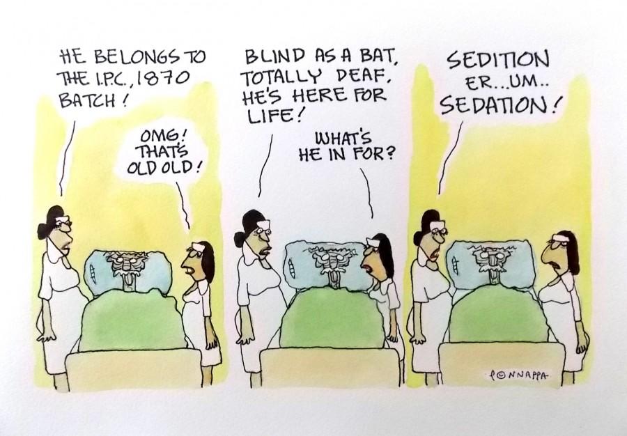 IBTimes Cartoon,Ponappa Cartoon,sedition cartoon