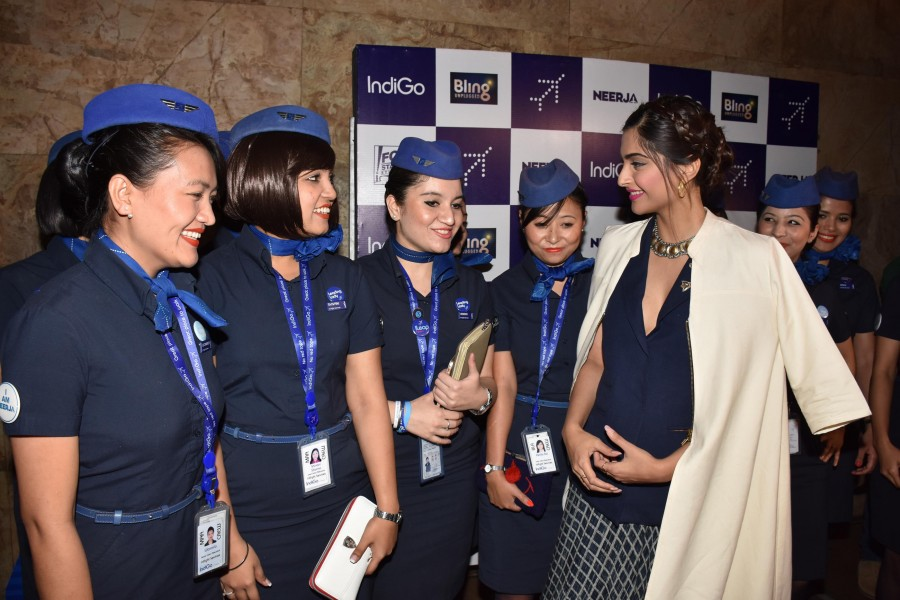 Sonam Kapoor,Neerja pays tribute to Air-hostess's,Sonam Neerja pays tribute to Air-hostess's,Team Neerja pays a tribute to Air-hostesses,Neerja,team Neerja,actress Sonam Kapoor,Neerja Bhanot