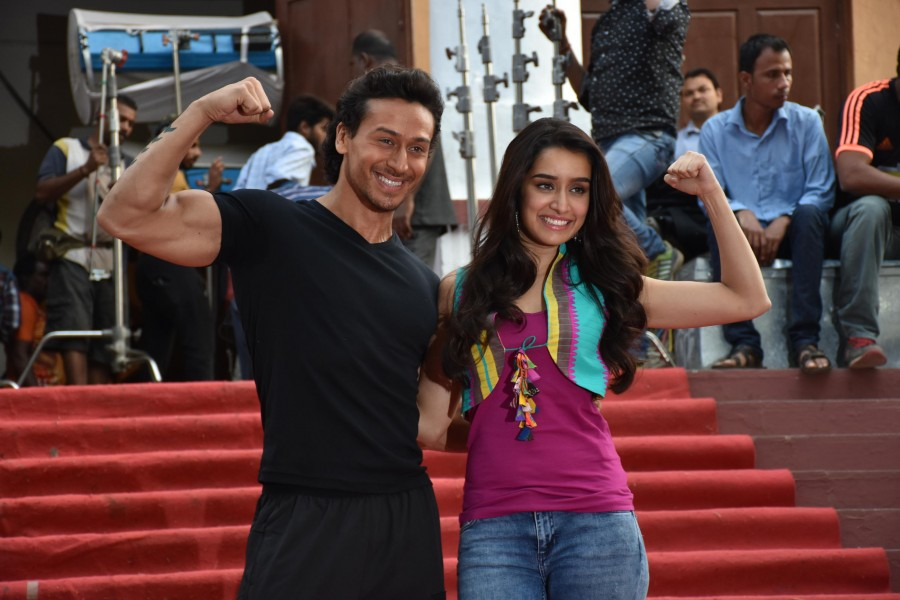 Team Baaghi,Tiger Shroff and Shraddha Kapoor,Tiger Shroff,Shraddha Kapoor,Sajid Nadiadwala,Sabbir Khan,Baaghi,Baaghi on the sets