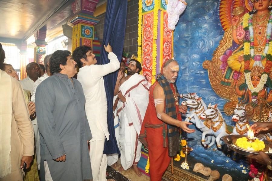 Nagarjuna,Venkatesh,Chiranjeevi,Daiva Sannidhanam New Temple at Film Nagar,Daiva Sannidhanam Temple at Film Nagar,Daiva Sannidhanam Temple,Film Nagar,Surekha,Murali Mohan